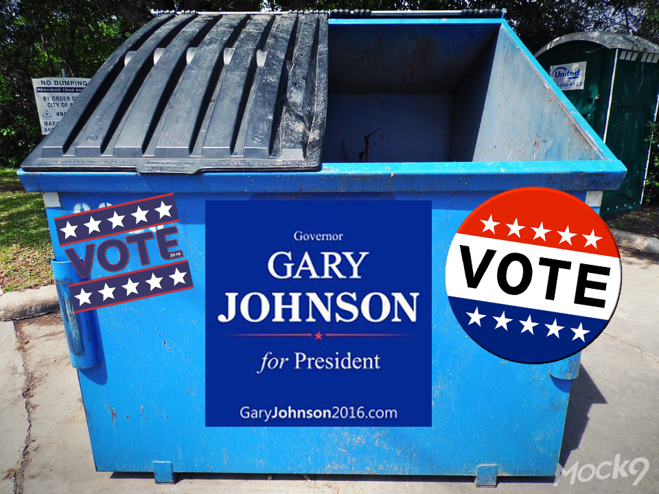 Gary Johnson Voting Booth